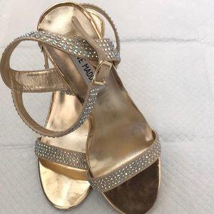 Steve Madden Gold  size 8.5 heels